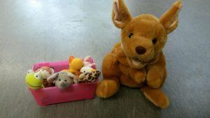 Das ist Sally. Sally ist ein Känguru – Mädchen, das in Großbritannien lebt. Gemeinsam mit Sally und weiteren Fingerpuppen Englisch zu lernen, macht den Kindern großen Spaß!
